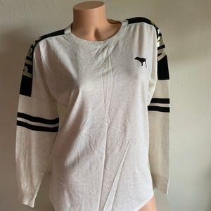 VS PINK Long Sleeve Varsity Crew T-shirt Top XS